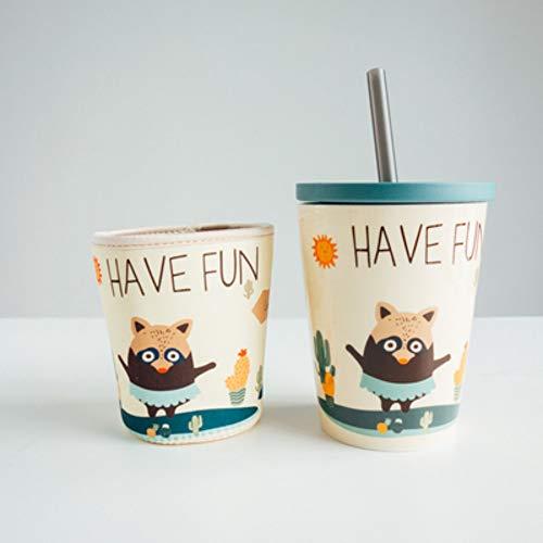 LOYWT étudiant en céramique tasse enfants mignons avec couvert cuillère marque tasse net couple rouge tasse eau créative super grande capacité tasse de café, b