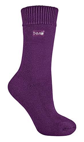 THMO - 1 Paar Dames Dikke Fleece Gevoerde Warm Thermo Sokken voor de Winter