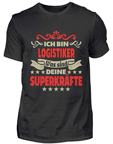 BE23 02 Logistiker - Camiseta para hombre Negro   M