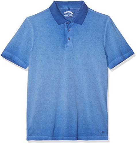 Pierre Cardin Poloshirt Premium Cotton Pique Cold Dyed Denim Academy Polo, Bleu (Brazil 3302), Small Homme