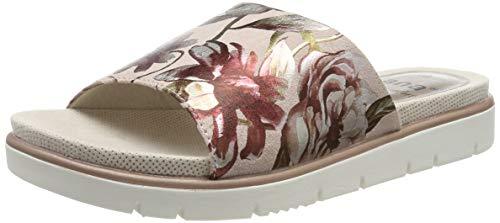 Jana 100% comfort Damen 8-8-27104-22 Pantoletten, Pink (Rose/Flower 524), 38 EU