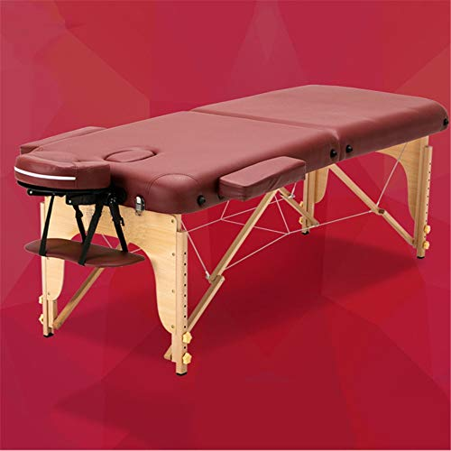PQXOER Table de Massage Facial Spa Portable Massage Table légère Lit Pliant Tattoo Beauty Therapy...