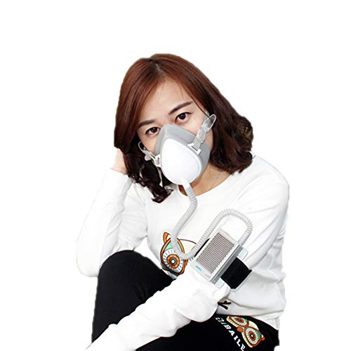 Personal Wearable Electrical Air Purifying Mask with Rechargable Air Filter,Portable Mini Air Purifier