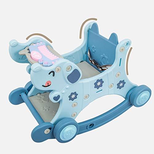 WJTMY Bebé Paseo en Juguetes niños Caballo Mecedora Multifuncional Mecedora Mecedora Carro Carrito 2 en 1 Regalos para bebés