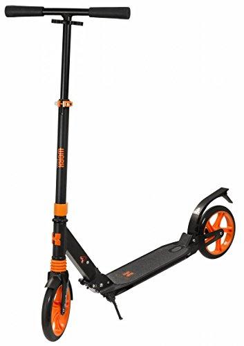 WORX Gold Coast Suspension Scooter, Schwarz/Orange, 82-104cm