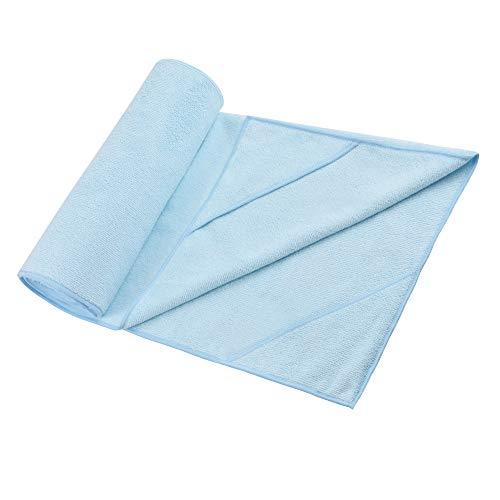 Yoassi Toalla de microfibra antideslizante, toalla de yoga higiénica para esterilla súper absorbente, paño antideslizante para fitness, gimnasia, meditación y yoga, 183 x 61 cm, azul