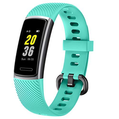 Letsfit Fitness Tracker, Schrittzähler Uhr, Wasserdicht IP68 Aktivitätstracker mit Pulsmesser, Fitness Armband pulsuhr Smartwatch für Damen Herren für Android iOS (Grün)
