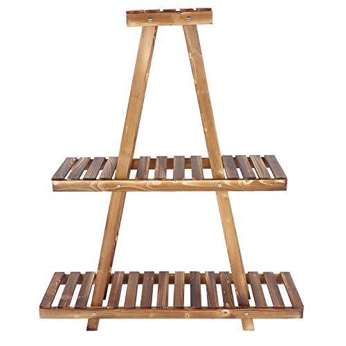 AYHa Holzpyramide Design Pflanzenständer Sukkulenter Blumentopf Displayständer Balkon Garten Blumendekor Stand