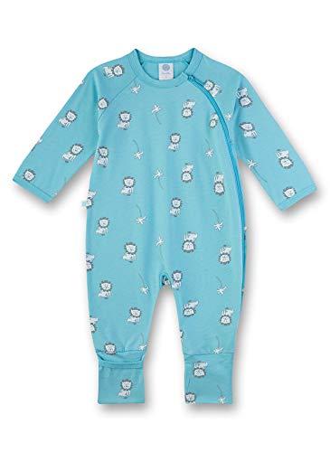 Sanetta Baby-Jungen Overall Strampler, Blau (Turquoise Blue 5986), 86 (Herstellergröße:086)