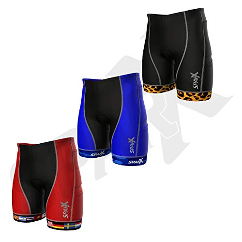 Sparx Men`s Competitor Triathlon Shorts Men Triathlon Shorts Triathlon Bike Shorts Men (Blue Camo)