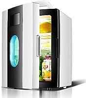 ポータブル冷蔵庫、8Lミニ冷蔵庫-車の小型冷蔵庫、クーラーとウォーマーカーホームデュアルユース冷蔵庫ロードトリップ、ピクニック、キャンプ、家庭、オフィス、黒に静か Nice family