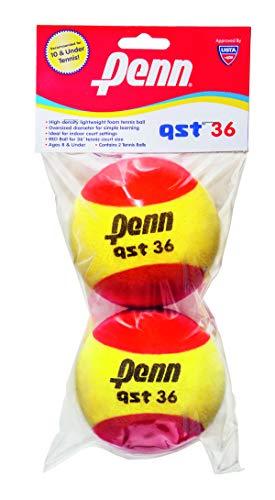 Penn QST 36 Pelotas de Tenis de Espuma, Pelotas de Tenis para Principiantes, Color Rojo