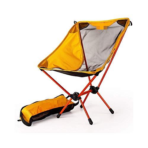 Garten ultraleichter tragbarer gelber Sitz Angelstuhl Campinghocker...