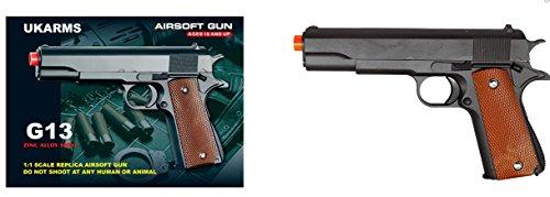 ukarms g13 metal gun military m1911 spring airsoft pistol w/ 6mm bb 250 fps(Airsoft Gun)