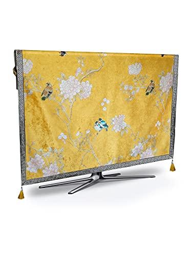 HWNGDI TV Cubierta de Polvo de Lujo Resistente a la Intemperie y a Prueba de Polvo Protección de Plasma TV Mesa de Mesa de Estera de Tela Placemat cojín Cubierta Durable