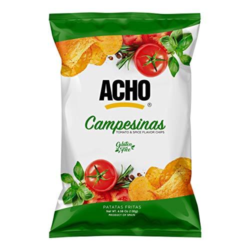 ACHO – Patatas Fritas Campesinas – Chips Gourmet aptas para veganos y celíacos –Paquete de 10 x 130 gr - Total: 1300 gr