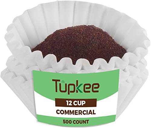 Tupkee Commercial Large 12Cup Coffee Filters  500Count Coffee Filters Chlorine Free White  Compatible with Wilbur Curtis Bloomfield Bunn Coffee Maker Filters  Made in the USA