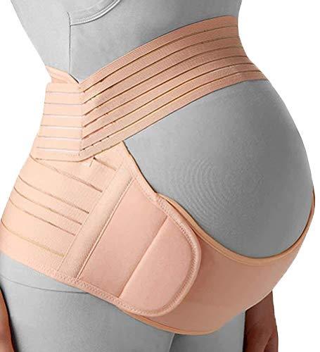Ceinture Maternité Grossesse Ceinturon, réglable Respirant prénatale et postnatale Tummy Wrap for Les Soins de bébé et Grossesse 529 (Color : B(Flesh), Size : XL)