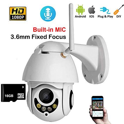 Beveiliging Outdoor Draadloze IP Camera 1080P Waterdichte Home Beveiliging Outdoor Bullet IP Camera Met Nachtzicht Met 16G SD-Kaart