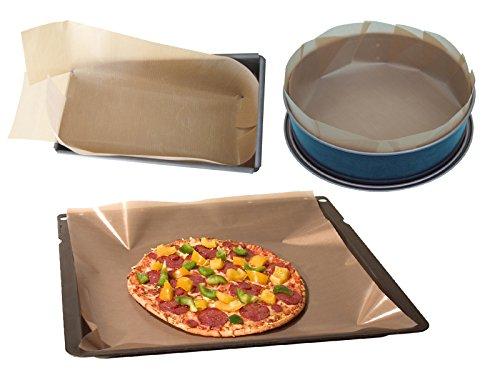 JOSKO producten 1536 anti-aanbaklaag permanente bakfolie, bakplezier, spring-/bakvorm op maat gesneden, set van 3, 40 x 50 cm