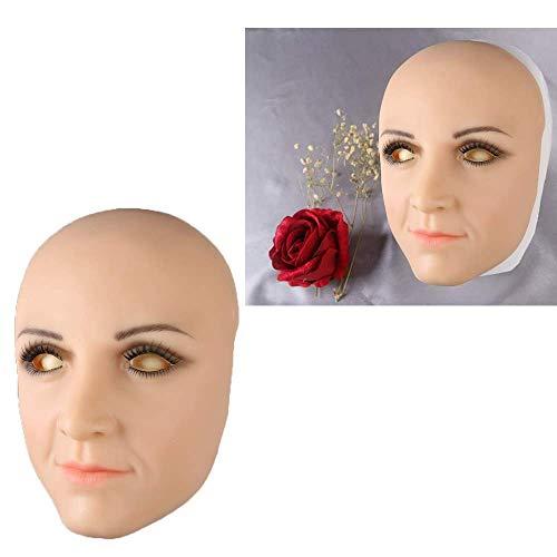 TWO Sexy Silikon Maske Female Masken Pretty, Halloween Christmas Masken, Angel Face, Cosplay Male to Female for Crossdresser Transgender Shemale