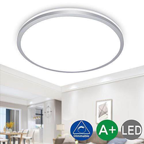 LED plafondlamp rond, 12W paneel plafondlamp, koud wit downlight voor woonkamer, slaapkamer, kinderkamer, keuken, hal (niet dimbaar, 5 stuks) [energieklasse A ]
