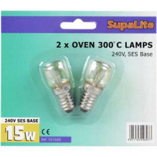 SupaLite Lot de 2 ampoules de four Culot SES 300° C 240 V 15 W