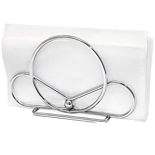 Venalini Stainless Steel Napkin Holder (Silver) - Perfect for Kitchen Tables & Dining Table