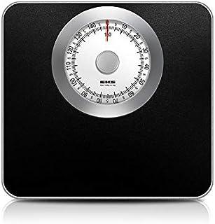 Báscula de peso de 150 kg, báscula de peso para cuerpo humano, báscula inteligente de resorte de pesaje de acero inoxidable, báscula de equilibrio cuadrado (color: negro)