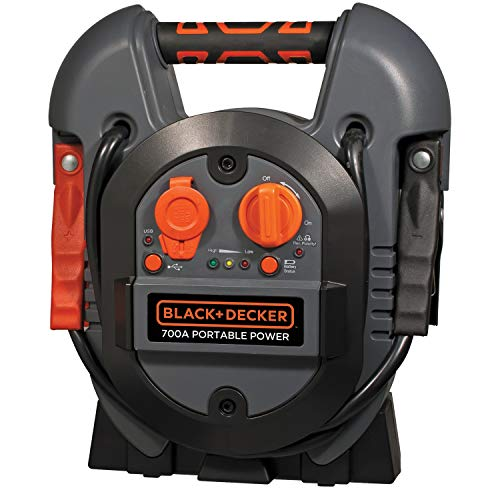 BLACK+DECKER J312B Power Station Jump Starter: 700 Peak/300 Instant Amps, USB Port, Battery Clamps