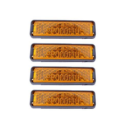 P4B | 4X Reflektoren für Fahrrad Pedale | Zum Einklicken | StVZO zugelassen | Pedal Reflektoren