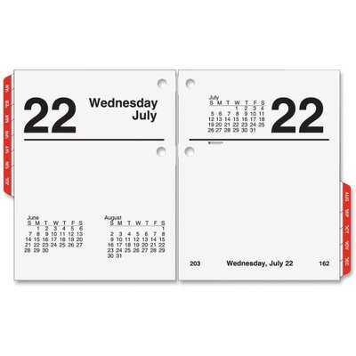 AT-A-GLANCE E919-50 Recycled Compact Desk Calendar Refill, 3