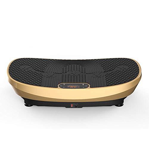 Topashe Plataforma Vibratoria 3D para,Máquina de Adelgazamiento 3D, máquina de agitación Perezosa-Dorada,Plataforma Vibratoria Oscilante