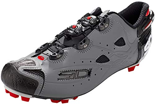 Sidi Tiger - Scarpe da ciclismo da uomo, (nero opaco/grigio opaco.), 42 EU
