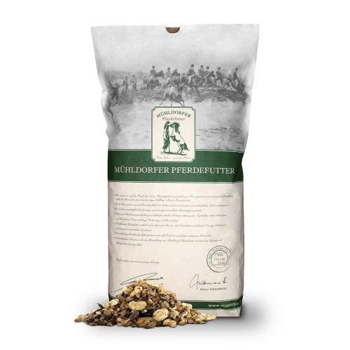 Mühldorfer 6-Korn Plus, 20 kg, pelletfreies Vollkornmüsli, mit Schwarzhafer, energiespezifisch, Futter für alle Pferde und Ponys
