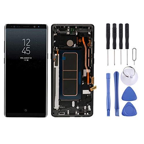 TKTK Mobiele Telefoon Reparatie Onderdelen LCD-scherm LCD-scherm en Digitizer Volledige montage met Frame voor Galaxy Note 8 (Zwart), Zwart