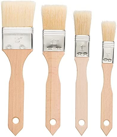 Redecker Pastry Brushes Set with Untreated Beechwood Handles, 2 Different Sizes, Multi-purpose Brushes with Natural Boar Bristles for Basting, Glazing and More, Made in Germany
