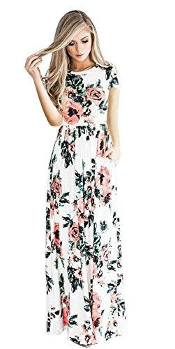 potente para casa Vestidos vintage largos florales, vestidos de noche hippie de mujer, vestidos largos bohemios, verano…