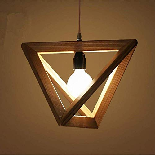 WY-YAN Indoor Lighting Fixture Solid Wood Triangle Led Creative Simple Living Room Bedroom Dining Wood Lamp Decoration Good Light