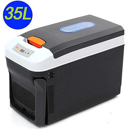 Ling Mini-koelkast, met vriesvak, draagbaar, met vriesvak, stil, compact, dual purpose-koelkast, 12 V, 24 V, 220 V, voor verschillende auto's, thuis, office slaapzalen