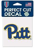 WinCraft NCAA ピッツバーグ・パンサーズ ピットロゴ 4インチ x 4インチ アウトドアカラー ビニールデカール