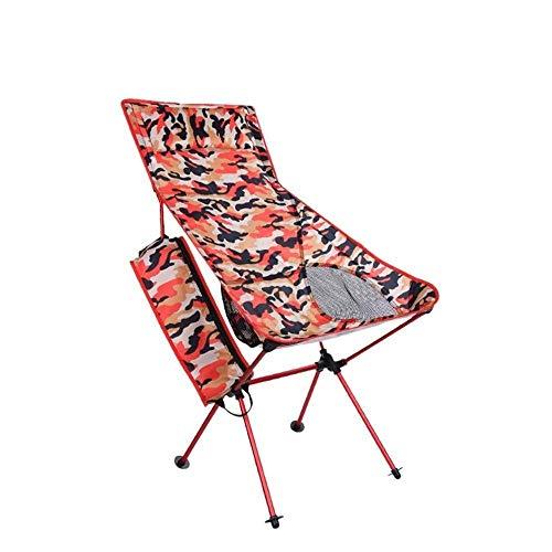 AOIWE Silla Plegable Plegable Que acampa Luna Silla de Playa sillas de Pesca Ultraligero Viaje Plegable heces Silla portátil Luna, 3 Colores (Color : Red)