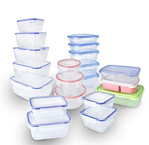 FORA 20er Set Frischhaltedosen Küche mit Deckel - günstiger Literpreis (20l Gesamtvolumen)