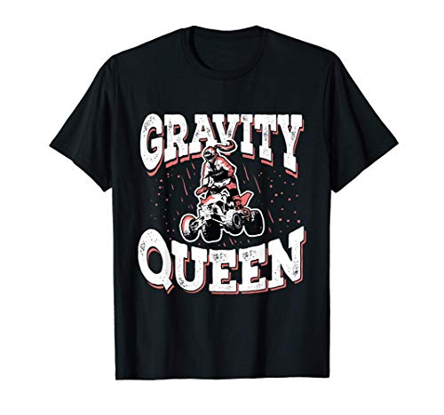 Quad Bike Jinete Del ATV Four Wheeler Regalo Gravity Queen Camiseta
