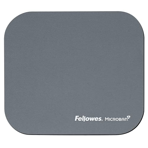 Fellowes - 5934005 - Tapis de souris en plastique avec protection antibactérienne Microban - Argent - Lot de 6