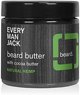Every Man Jack Beard Butter Natural Hemp 4 ounce 1 Jar Naturally Derived Parabens free Pthalate product image