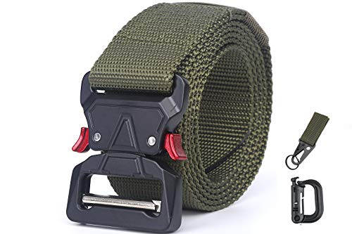 Tactical Belt Utility Belt Military Belt with Quick-Release Buckle & Accessories
