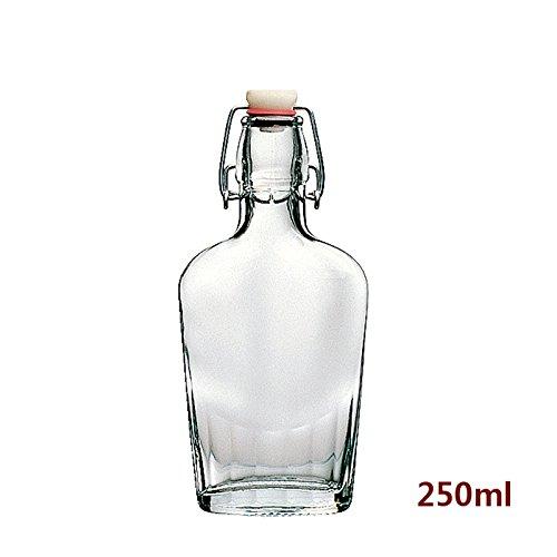 Classic Style Clear Glas mit Stopfen Flasche, Umweltschutz Werkstoff Glas versiegelte Flasche Wein täglich Necessaries Seasoning Flasche, 250 ml
