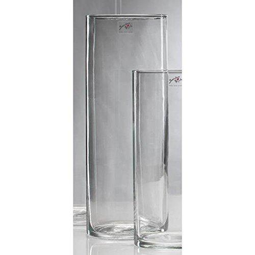 Sandra Rich Glasvase, Dekoglas CYLI, 40cm, Ø 15cm, Glas, zylindrisch Rund
