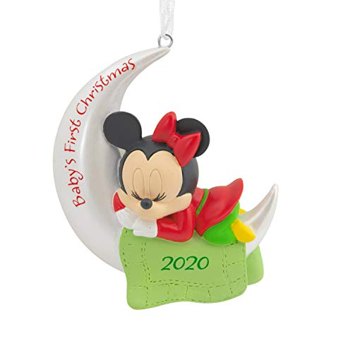Hallmark Ornament 2020 Year-Dated, Disney Minnie Mouse Baby's First Christmas